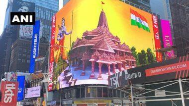 न्यूयॉर्कच्या Times Square च्या बिलबोर्डवरील स्क्रीनवर प्रदर्शित झाले राम मंदिराचे मॉडेल व श्री रामाचे चित्र (Watch Video)