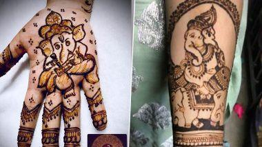 Ganesh Chaturthi 2020 Mehndi Designs: गणेश चतुर्थी निमित्त हातावर काढून पाहा यासुंदर गणपती मेहंदी डिझाइन(See Photos and Video Tutorials)