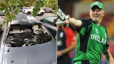 Kevin O'Brien Smashes Own Car Window: स्थानिकटी-20 सामन्यात आयरिश केविन ओ'ब्रायनचीफटकेबाजी, घातक षटकार ठोकत फोडली स्वतःच्याच गाडीची काच (See Photos)