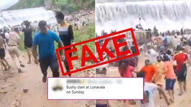 Bhushi Dam in Lonavala Over The Weekend Fake Viral Video: सोशल मीडियामध्ये भूशी डॅम वर गर्दीचा कथित व्हिडिओ व्हायरल; लोणावळा मधील नव्हे तर गर्दी राजस्थानच्या गोवटा डॅम वरील