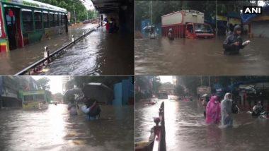 Mumbai Rain Update: मुंबई मध्ये जोरदार पाऊस; परेल, हिंदमाता भागात साचले पाणी, समता नगर येथे भूस्खलन (See Photos & Videos)