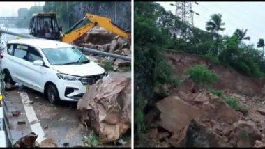 Mumbai Rain Update: मालाड जवळ पश्चिम दृतगती मार्गावर भूस्खलन व दरड कोसळल्याने वाहतुक ठप्प (See Photos)