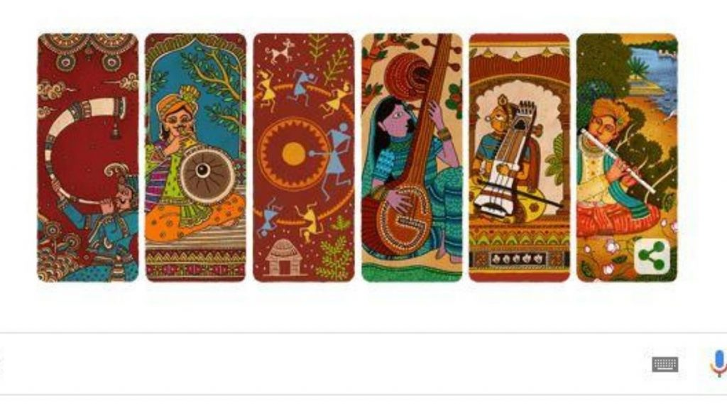 भारताचा स्वातंत्र्यदिन 2020 Google Doodle: 74 व्या स्वातंत्र्यदिनाच्या शुभेच्छा देणारे भारतीय संगीतकलेवर आधारित गूगल डूडल पाहा