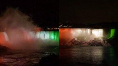 Niagara Falls: नायगरा धबधब्यावर तिरंग्याची रोषणाई करुन असे झाले भारतीय स्वातंत्र्यदिनाचे सेलिब्रेशन (Watch Video)