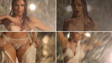 Sherlyn Chopra Stripping In Rain Video: शर्लिन चोपडा ने साडी ते Lingerie स्ट्रिपिंग करत पावसात भिजताना दाखवलेल्या 'या' अदा पाहुन लागेल वेड
