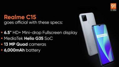 एन्ट्री लेव्हल स्मार्टफोन Realme C15 भारतात लवकरच होणार लॉन्च, जाणून घ्या फिचर्स