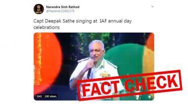Captain Deepak Sathe यांचा हवाई दलाच्या वार्षिक संमेलनात गाणं गातानाचा व्हायरल व्हिडिओ आहे Fake! जाणुन घ्या सत्य (Watch Video)