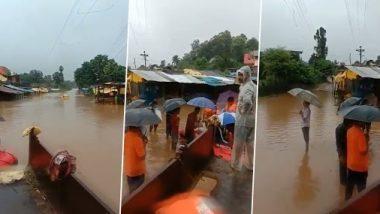 Sangli Rain Update: सांगली जिल्ह्यातील पर्लकोटा नदीला पूर; पाणी गावात शिरल्याने 100 गावांचा संपर्क तुटला; पहा व्हिडिओ