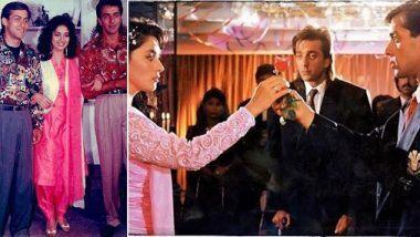 29 Years of Saajan: माधुरी दीक्षित हिने आपल्या 'साजन' या चित्रपटाला 29 वर्ष पूर्ण झाल्याच्या निमित्ताने शेअर केला संजय दत्त आणि सलमान खान सोबतचा हा अविस्मरणीय फोटो