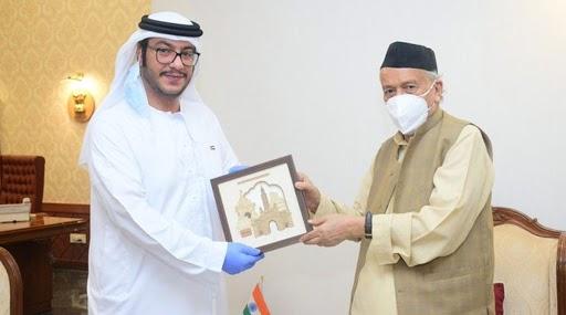 संयुक्त अरब अमिराती दूतावासाच्या प्रभारी प्रमुखांनी घेतली राज्यपाल भगत सिंह कोश्यारी यांची भेट