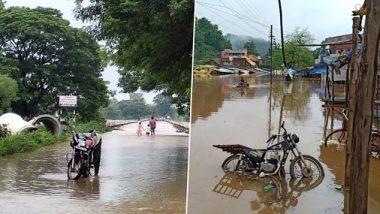 Gadchiroli Rain Update: गडचिरोलीतील पर्लकोटा नदीच्या पुराचे पाणी दुसऱ्यांदा भामरागड गावात शिरलं; 200 घरे पाण्याखाली