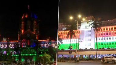 Independence Day 2020: स्वातंत्र्य दिनानिमित्त मुंबई महापालिकेचे मुख्यालय, छत्रपती शिवाजी महाराज टर्मिनसच्या ऐतिहासिक वास्तूंना तिरंग्याची रोषणाई
