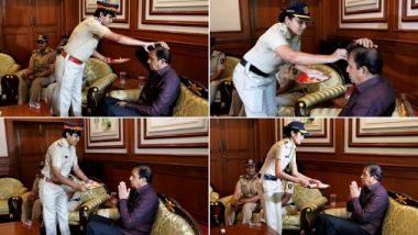 गृहमंत्र्यांच्या रुपाने महिला पोलिसांना मिळाला हक्काचा भाऊ; अनिल देशमुख यांचे महिला पोलीस भगिनींसोबत रक्षाबंधन; पहा फोटो