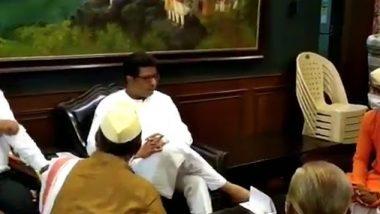 महाराष्ट्रात मॉल्स उघडू शकतात, तर मग मंदिर का नाही? त्र्यंबकेश्वर येथील पुजाऱ्यांच्या भेटीनंतर मनसे अध्यक्ष राज ठाकरे यांचा राज्य सरकारला सवाल