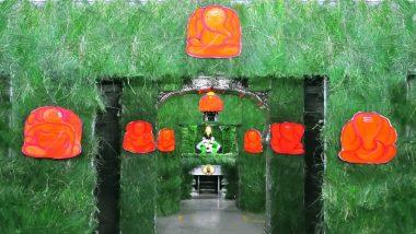Ganesh Chaturthi 2020: गणेश चतुर्थी निमित्त पंढरपूर विठ्ठल रुक्मिणी मंदिरात दुर्वांची आकर्षक आरास; गाभाऱ्यात साकारले अष्टविनायकांचे रुप (View Photos)