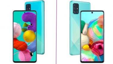 Samsung Galaxy A51, Galaxy A71 Prices Reduced: सॅमसंग गॅलेक्सी ए51, गॅलेक्सी ए71 स्मार्टफोनच्या किंमतीत घट; पहा नव्या किंमती