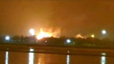 Surat ONGC Plant Massive Fire: सुरत च्या ONGC प्लांट मध्ये मोठा स्फोट होउन लागली भीषण आग, Watch Video