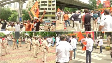 मुंबई: मराठा आरक्षण मुद्द्यावर सुप्रीम कोर्टाच्या स्थगिती विरोधात लालबाग परिसरात मराठा समाजाचे आंदोलन