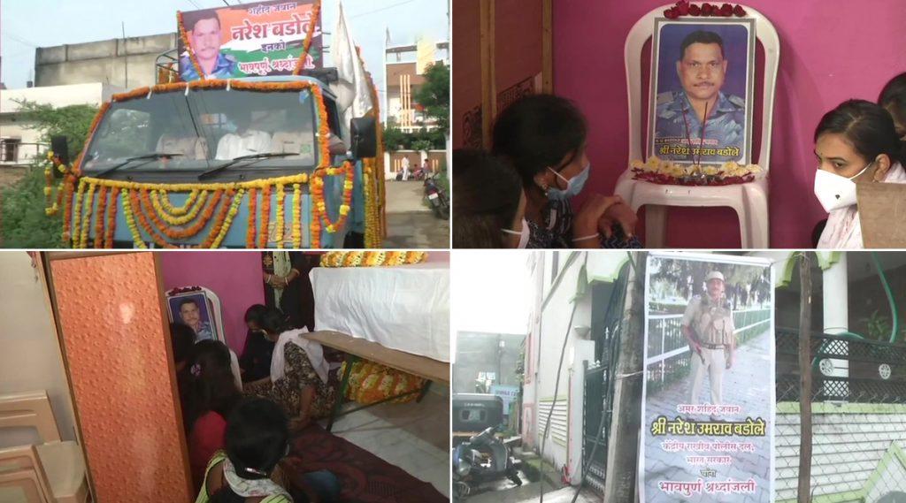 महाराष्ट्र: जम्मू-काश्मीर मध्ये दहशतवादी हल्ल्यात वीरमरण आलेल्या CPRI चे जवान नरेश बडोले यांचे पार्थिव नागपूरात दाखल