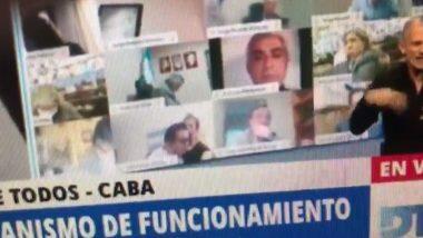 Argentinian MP Kissing Girlfriend's Boobs: अर्जेंटिनामध्ये संसदेच्या ऑनलाईन सत्रादरम्यान खासदार घेऊ लागले त्यांच्या गर्लफ्रेंडच्या स्तनांचे चुंबन; द्यावा लागला पदाचा राजीनामा (Watch Video)