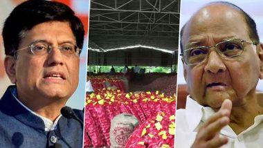 महाराष्ट्र: केंद्र सरकारच्या कांदा निर्यात बंदीवर शेतकरी आक्रमक, सरकारने फेरविचार करावा अशी शरद पवारांची केंद्रीय मंत्री पियुष गोयल यांच्याकडे  मागणी