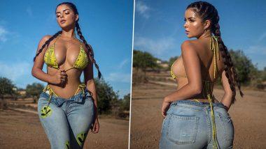 Demi Rose Super Hot Photos: डेमी रोज ने बिकिनी मध्ये Cleavage दाखवत Flaunt केली Bomb फिगर, पाहुन लागेल वेड
