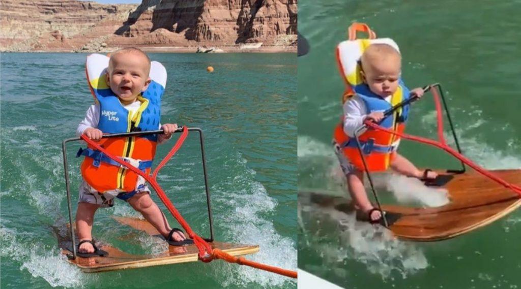 Youngest Person To Do Water Skiing: काय सांगता? 6 महिन्यांच्या बाळाने केले वॉटर स्कीइंग; बनवला विश्वविक्रम (Watch Video)