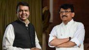 Sanjay Raut and Devendra Fadnavis Meeting: माजी मुख्यमंत्री देवेंद्र फडणवीस आणि शिवसेना नेते खा. संजय राऊत यांची भेट; 2 तास चर्चा, समोर आले 'हे' कारण