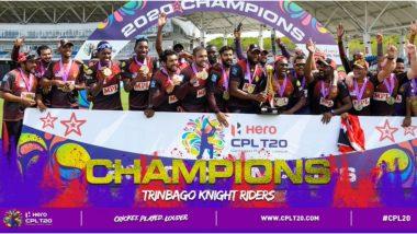 CPL 2020 Final: शाहरुख खानच्या ट्रिनबागो नाइट रायडर्सने लगावला विजेतेपदाचा चौकार, 'बादशाह' खानने अशाप्रकारे केले अभिनंदन (See Tweet)