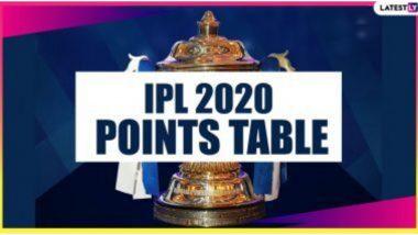 IPL 2020 Points Table Updated: मुंबई इंडियन्सचे अव्वल स्थान कायम; RCBविरुद्ध विजय मिळवत सनरायझर्स हैदराबादची पॉईंट्स टेबलवर चौथ्या स्थानी झेप