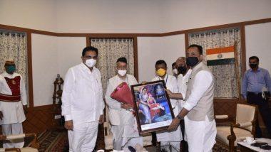 Jayant Patil Meets Governor Bhagat Singh Koshyari: बुलढाणा मधील जिगाव प्रकल्पासंदर्भात राज्यमंत्री जयंत पाटील यांनी घेतली राज्यपाल भगत सिंग कोश्यारी यांची भेट