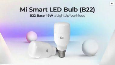 Xiaomi ने भारतात लॉन्च केला वॉइस कंट्रोल करणारा Mi Smart LED Bulb