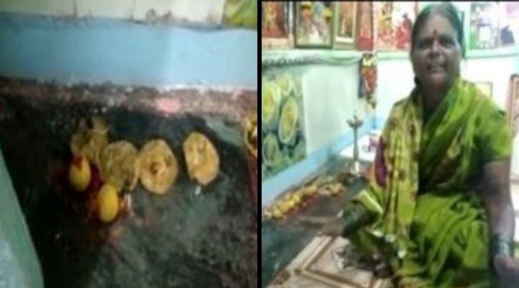 Corona Devi Mandir: सोलापुर च्या बार्शी मध्ये उभारलं कोरोना देवी मंंदिर (Watch Video)