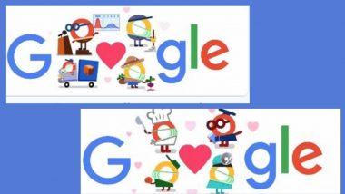 To All The Coronavirus Helpers Thank You: धन्यवाद कोरोना व्हायरस मदतनीस म्हणत Google चे खास Doodle; डॉक्टर, सफाई कर्मचार्यांंचे मानले आभार