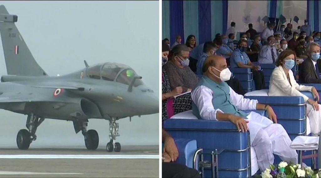 Rafale Induction Ceremony: राफेल लढाऊ विमानांची पहिली तुकडी भारतीय वायुसेनेत औपचारिकरित्या दाखल; पहा दिमाखदार सोहळा