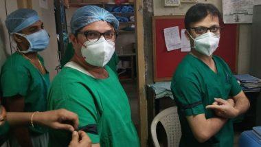 Resident Doctors Protest In Mumbai: कोविड वॉर्डमध्ये उपचार केल्यानंतर 7 ऐवजी केवळ 1 दिवस रजा देण्याचा नियमाचा मुंबईमध्ये रहिवासी डॉक्टरांकडून निषेध; दंडावर काळी पट्टी बांधत कामावर रूजु