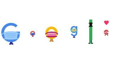 COVID-19 चा प्रतिबंध Google Doodle: कोरोना विषाणूची लागण थांबवण्यासाठी 'मास्क घाला जीव वाचवा' संदेश देणारं खास डूडल!