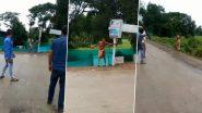 Viral Videos: जळगाव येथे साधुच्या वेशात हाती आलेल्या मनोरुग्णाने त्रिशुळ फेकुन पेट्रोल पंंपावरील कर्मचार्यावर केला हल्ला