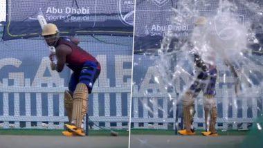 Andre Russell Demolishes A Camera: कोलकाता नाईट रायडर्स संघाचा अष्टपैलू खेळाडू आंद्रे रसेल याने सरावदरम्यान चक्क कॅमेऱ्याच फोडला; पाहा व्हिडिओ