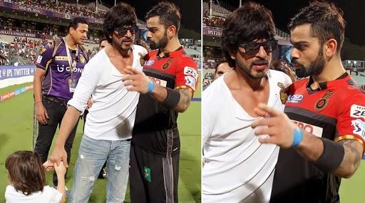 Virat Kohli And Shahrukh Khan Photo: भारतीय क्रिकेटसंघाचा कर्णधार विराट कोहली शाहरूख खान याच्याशी भर मैदानातच भिडला? सोशल मीडियावर व्हायरल होणाऱ्या फोटो मागचे सत्य घ्या जाणून