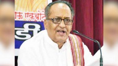 Vasudev Narayan Utpat Dies: पंढरपूरचे माजी नगराध्यक्ष,  भागवताचार्य वासुदेव नारायण तथा वा ना उत्पात यांचे कोरोनामुळे निधन