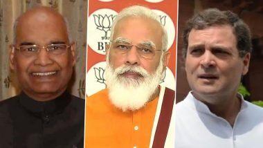 Dussehra 2020: दसरा सणानिमित्त राष्ट्रपती रामनाथ कोविंद, पंतप्रधान नरेंद्र मोदी, राहुल गांधी यांच्यासह अन्य राजकीय नेत्यांनी दिल्या शुभेच्छा!