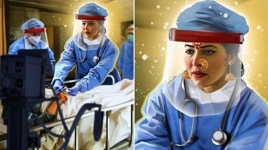 Navratri निमित्त अभिनेत्री तेजस्विनी पंडित ने धारण केला PPE किट मागे दडलेल्या नवदुर्गेचा अवतार, महिला डॉक्टरांना दिली देवीची उपमा, Watch Photo