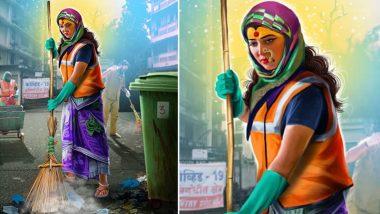 Navratri 2020: नागरिकांना स्वच्छ श्वास देण्यासाठी रस्त्यावर उतरलेल्या महिलेच्या रुपातील देवीच्या 'या' अवताराचे तेजस्विनी पंडित ने घडवले दर्शन, See Pic