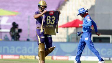 KKR vs DC, IPL 2020: नितिश राणाने दिल्ली कॅपिटल्सविरुद्धअर्धशतकानंतर दाखवली 'सुरींदर' नावाची जर्सी, जाणून घ्या कारण