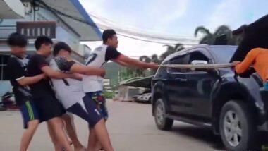 Thailand :शिक्षकाला  इंजिनमध्ये सापडला 13 फूट लांब Python, अथक परिश्रमानंतर अजगराला बाहेर काढण्यात यश ( Watch Video )