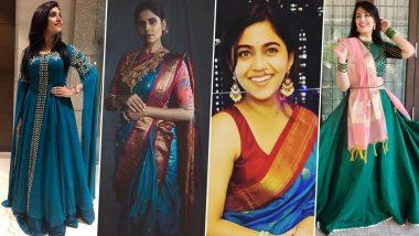 Navratri 2020 8th Day Colour: शारदीय नवरात्री अष्टमी विशेष सई लोकुर, मुक्ता बर्वे सह या मराठी अभिनेत्रींचा खुलला मोरपिसी रंगातील लूक