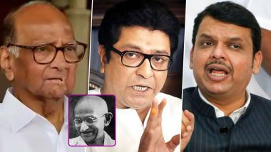 Gandhi Jayanti 2020: महात्मा गांधी जयंती निमित्त शरद पवार, राज ठाकरे आणि देवेंद्र फडणवीसांनी ट्विटच्या माध्यमातून राष्ट्रपित्याला वाहिली आदरांजली!