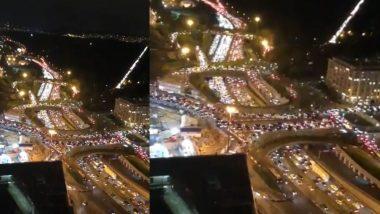 Traffic Jams in Paris: फ्रांसमध्ये दुसऱ्या लॉक डाऊनच्या घोषणेनंतर राजधानी पॅरिसमध्ये तब्बल 700 किमीचे ट्राफिक जाम (Watch Video)