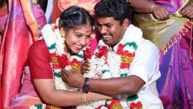 AIADMK Dalit MLA A Prabhu Marriage With Brahmin Girl: अन्नाद्रमुक आमदार ए. प्रभु यांचे ब्राह्मण मुलीसोबत लग्न, जातीयतेला मुठमाती देत 'आंतरजातीय विवाह'